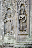 Wat de pedra cambodia do angkor dos carvings do Khmer foto de stock royalty free