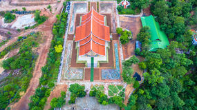 wat de tempel van Sirindhorn Wararam Phu Prao Royalty-vrije Stock Fotografie