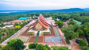 wat de tempel van Sirindhorn Wararam Phu Prao Royalty-vrije Stock Foto's
