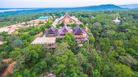 wat de tempel van Sirindhorn Wararam Phu Prao Stock Afbeeldingen