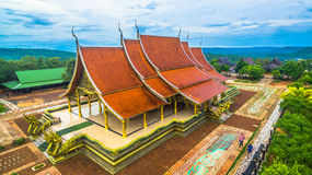 wat de tempel van Sirindhorn Wararam Phu Prao Stock Foto