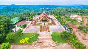 wat de tempel van Sirindhorn Wararam Phu Prao Stock Afbeelding
