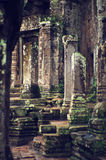 wat de temple de bayon d'angkor Photo stock