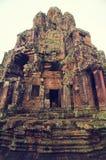 wat de temple de bayon d'angkor Photos libres de droits