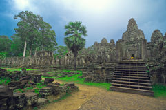 wat de temple de bayon d'angkor Photographie stock