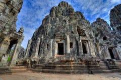wat de temple de hdr du Cambodge de bayon d'angkor Images libres de droits