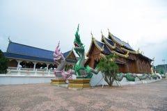 Wat Den Salee Sri Muang Gan. The Grand Blue Temple , or Wat Ban Den, a beautiful temple in Amphur Mae Tang Chiang Mai Stock Photo
