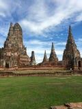 Wat do céu azul em Tailândia Fotografia de Stock