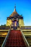 Wat Doi Phrabat è un monastero al chiangrai Tailandia fotografie stock libere da diritti