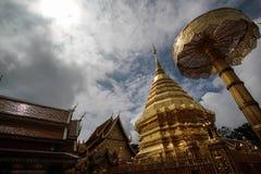 Wat Doi Suthep in Chaingmai. Doi Suthep in Thailand located at northen of Thailand Royalty Free Stock Photo
