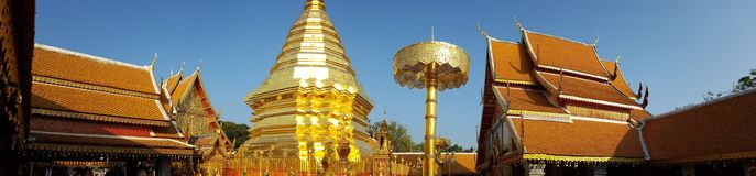 Wat Doi Suthep, Tailandia Fotografie Stock
