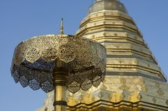 Wat Doi Suthep-tempelpagode royalty-vrije stock foto