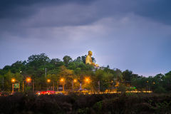 Wat Doi ti. Big Buddha built in approximately 2011 to the attrac Royalty Free Stock Photos