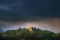 Wat Doi ti. Big Buddha built in approximately 2011 to the attrac Royalty Free Stock Images