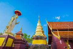 Wat doisi, Lumphun Thailand royaltyfri bild