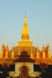 Wat dorato nel Laos Fotografie Stock Libere da Diritti