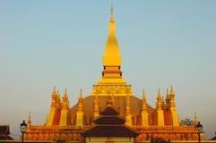 Wat dorato nel Laos Fotografia Stock