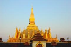Wat dorato nel Laos Immagine Stock Libera da Diritti