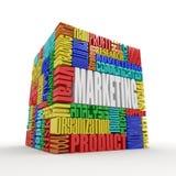 Wat een Marketing is royalty-vrije illustratie