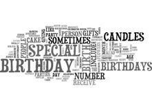 Wat een Verjaardagsword Wolk is Stock Foto