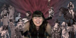 Wat een vrouw maakt is vreugde, gelach, geluk, liefde en het leven Royalty-vrije Stock Afbeelding