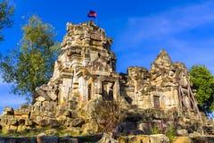 Wat Ek Phnom Buddhist Temple imagem de stock royalty free