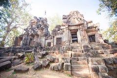 Wat Ek Phnom-tempel dichtbij de Battambang-stad, Kambodja Stock Afbeelding