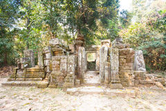Wat Ek Phnom  temple near the Battambang city, Cambodia Stock Images