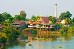 Wat en Ayutthaya Tailandia Foto de archivo