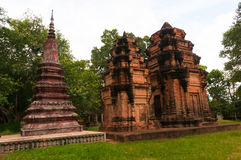 Wat Enkosei. A 10th century Angkoran temple containing different arcitectural styles Royalty Free Stock Image