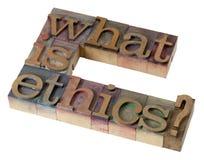 Wat is ethiek? royalty-vrije stock foto's
