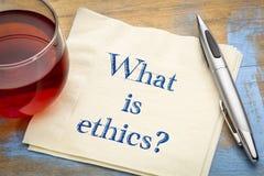 Wat is ethiek? Een vraag over servet royalty-vrije stock foto