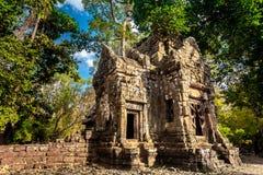 wat för angkorcambodia tempel forntida arkitektur Royaltyfria Foton
