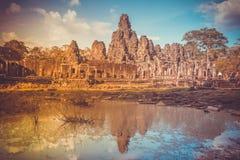wat för angkorcambodia tempel forntida arkitektur Royaltyfri Foto