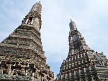 wat för arunbangkok dubbel pagoda arkivfoton