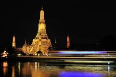 wat för arunbangkok natt Royaltyfria Bilder