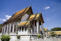 wat för bangkok kapellhuvudsuthat Royaltyfri Foto