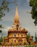wat för chalongphuket tempel Royaltyfria Bilder