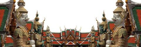 wat för phra för slott för kaew för förmyndare för bangkok demon storslagen Royaltyfri Fotografi