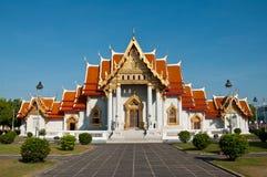 wat för tempel för bangkok benchamabophitmarmor Royaltyfri Foto