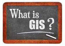 Wat is GIS? Een vraag over bord Royalty-vrije Stock Fotografie