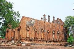 Wat Gudidao, Ayutthaya, Таиланд стоковое фото