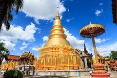 Wat hariphunchai Royaltyfri Foto