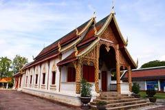 Wat Haripunchai. Arkivfoton