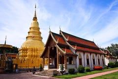 Wat Haripunchai. Royaltyfri Bild