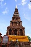 Wat Haripunchai. Stockbilder