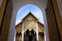 Wat Haripunchai. Arkivfoto