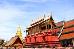Wat Haripunchai. Lizenzfreies Stockbild