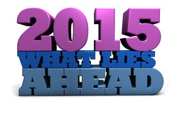 2015 wat in het verschiet ligt Stock Afbeeldingen