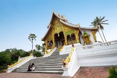 Wat Ho Pha Bang in Luang Prabang, Laos Immagini Stock